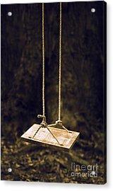 Empty Swing Acrylic Print by Carlos Caetano