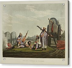 Encampment With Wagons Acrylic Print by British Library