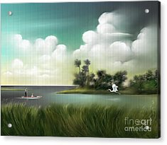 Landscapes Acrylic Print featuring the painting Enchanted Florida by Susi Galloway