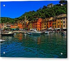 Enchanting Portofino In Ligure Italy I Acrylic Print by M Bleichner