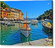Enchanting Portofino In Ligure Italy Iv Acrylic Print by M Bleichner