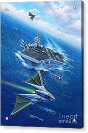 Encountering Atlantis Acrylic Print by Stu Shepherd