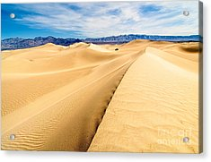 Endless Dunes - Panoramic View Of Sand Dunes In Death Valley National Park Acrylic Print by Jamie Pham
