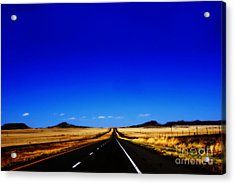 Endless Roads In New Mexico Acrylic Print by Susanne Van Hulst
