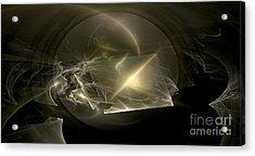 Energy Breaks Acrylic Print by Peter R Nicholls