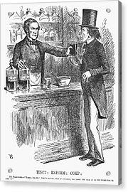 England Reform Bill, 1866 Acrylic Print by Granger