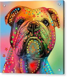 English Bulldog Acrylic Print by Mark Ashkenazi