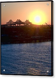 English Turn Sunset In New Orleans Acrylic Print by Ray Devlin