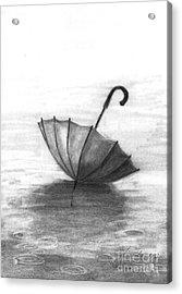 Enjoy The Raindrops Acrylic Print by J Ferwerda