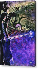 Entering In The Spirit Of The Night Acrylic Print by Linda Sannuti