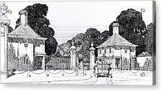 Entrance To Brooklandwood Acrylic Print by Thomas Hayton Mawson