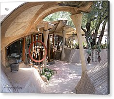 Entrance To Cosanti Acrylic Print by Diane Wood
