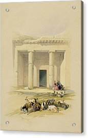 Entrance To The Caves Of Bani Hasan Acrylic Print by David Roberts
