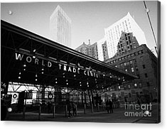 Entrance To The Rebuilt Path Train Station Ground Zero World Trade Center Site New York City Acrylic Print by Joe Fox