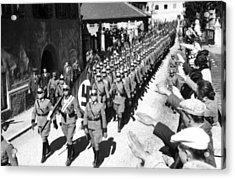 Entry Of German Police Into Tirol Acrylic Print by Everett