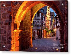 Entry To Riquewihr Acrylic Print by Brian Jannsen