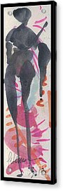 Entwined Figure Series No. 6  Your Back To The Drama Acrylic Print by Cathy Peterson