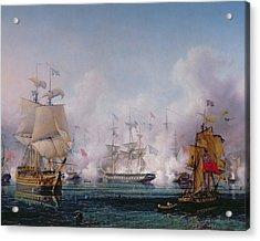 Episode Of The Battle Of Navarino Acrylic Print by Ambroise-Louis Garneray
