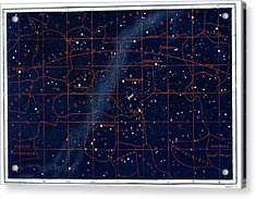 Equatorial Constellations Acrylic Print by Collection Abecasis