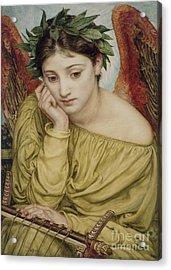Erato Muse Of Poetry 1870 Acrylic Print by Sir Edward John Poynter