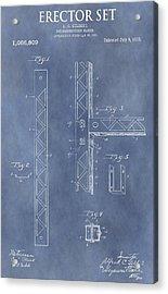 Erector Set Patent Acrylic Print by Dan Sproul