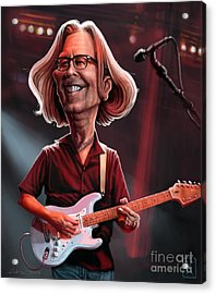 Eric Clapton Acrylic Print by Andre Koekemoer