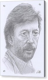 Eric Clapton Acrylic Print by Keith Miller