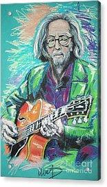 Eric Clapton Acrylic Print by Melanie D