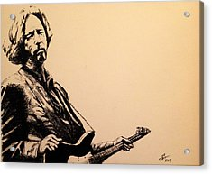 Eric Clapton Acrylic Print by Tim Brandt
