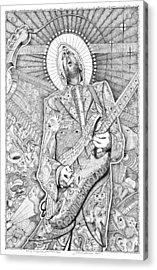 Eric Guitar God Clapton Acrylic Print by Lance Graves