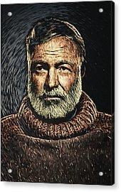 Ernest Hemingway Acrylic Print by Taylan Soyturk
