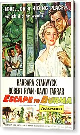 Escape To Burma, Us Poster, From Left Acrylic Print by Everett