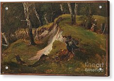 Escarpment With Tree Stumps Acrylic Print by Celestial Images