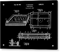 Etch A Sketch Patent 1959 - Black Acrylic Print by Stephen Younts