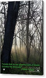 Eternal Light Acrylic Print by Rick Rauzi