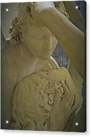 Eternal Love - Psyche Revived By Cupid's Kiss - Louvre - Paris Acrylic Print by Marianna Mills