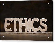 Ethics Acrylic Print by Donald  Erickson