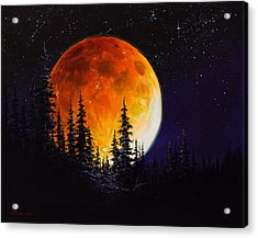 Ettenmoors Moon Acrylic Print by C Steele