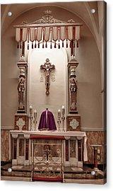 Eucharistic Altar Acrylic Print by Cecil Fuselier