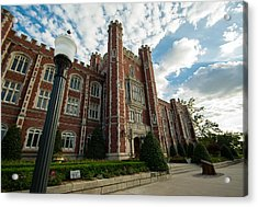 Evans Hall In The Evening Acrylic Print by Nathan Hillis