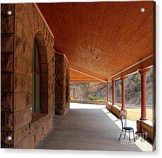 Acrylic Print featuring the photograph Evans Porch by Bill Gabbert