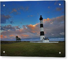 Evening At Bodie Island Lighthouse Acrylic Print by Matt Taylor