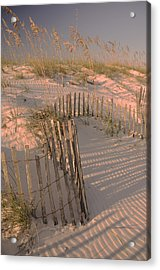 Evening At The Beach Acrylic Print by Maria Suhr