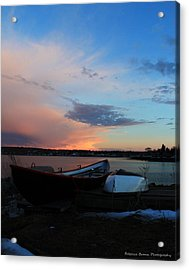 Evening At The Shore Acrylic Print by Becca Brann
