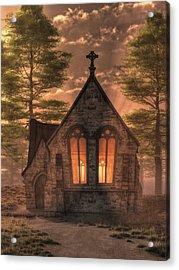 Evening Chapel Acrylic Print by Christian Art