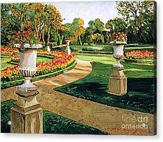 Evening Garden Acrylic Print by David Lloyd Glover