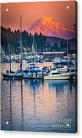 Evening In Gig Harbor Acrylic Print by Inge Johnsson