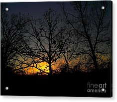 Evening In The Indian Nations Acrylic Print by R McLellan