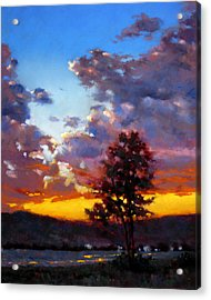 Evening In The Valley Acrylic Print by Dianna Ponting