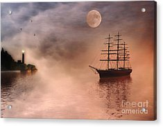 Evening Mists Acrylic Print by John Edwards